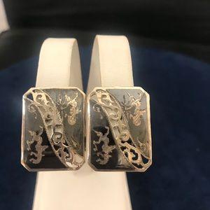Sterling Silver Earrings and Bracelet Set